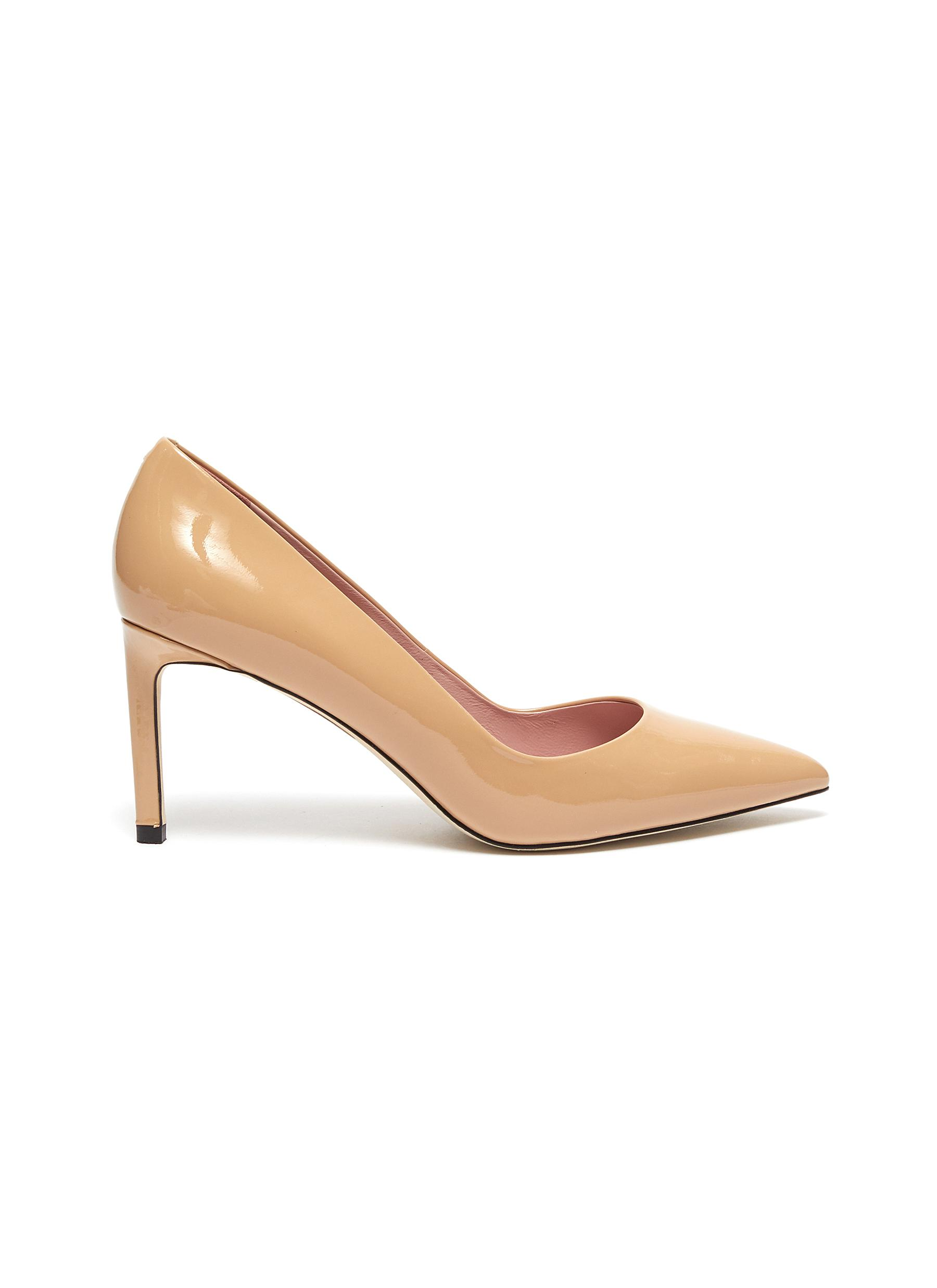Rosie patent leather pumps by Pedder Red