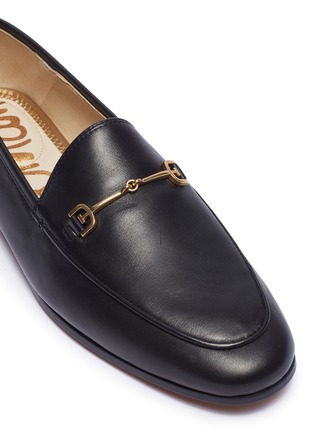 Detail View - Click To Enlarge - SAM EDELMAN - Loraine' horsebit leather step-in loafers