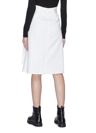 Back View - Click To Enlarge - MONCLER - Buckled wrap skirt