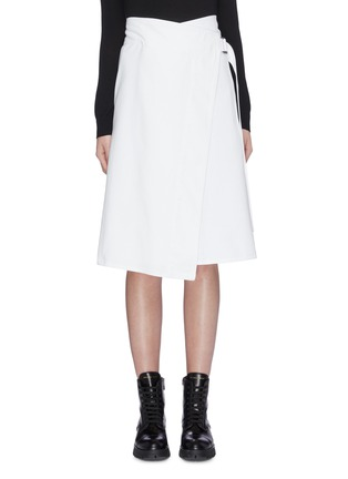 Main View - Click To Enlarge - MONCLER - Buckled wrap skirt