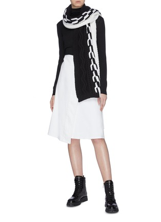 Figure View - Click To Enlarge - MONCLER - Buckled wrap skirt