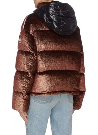 Back View - Click To Enlarge - MONCLER - 'Caille' detachable hood down puffer jacket