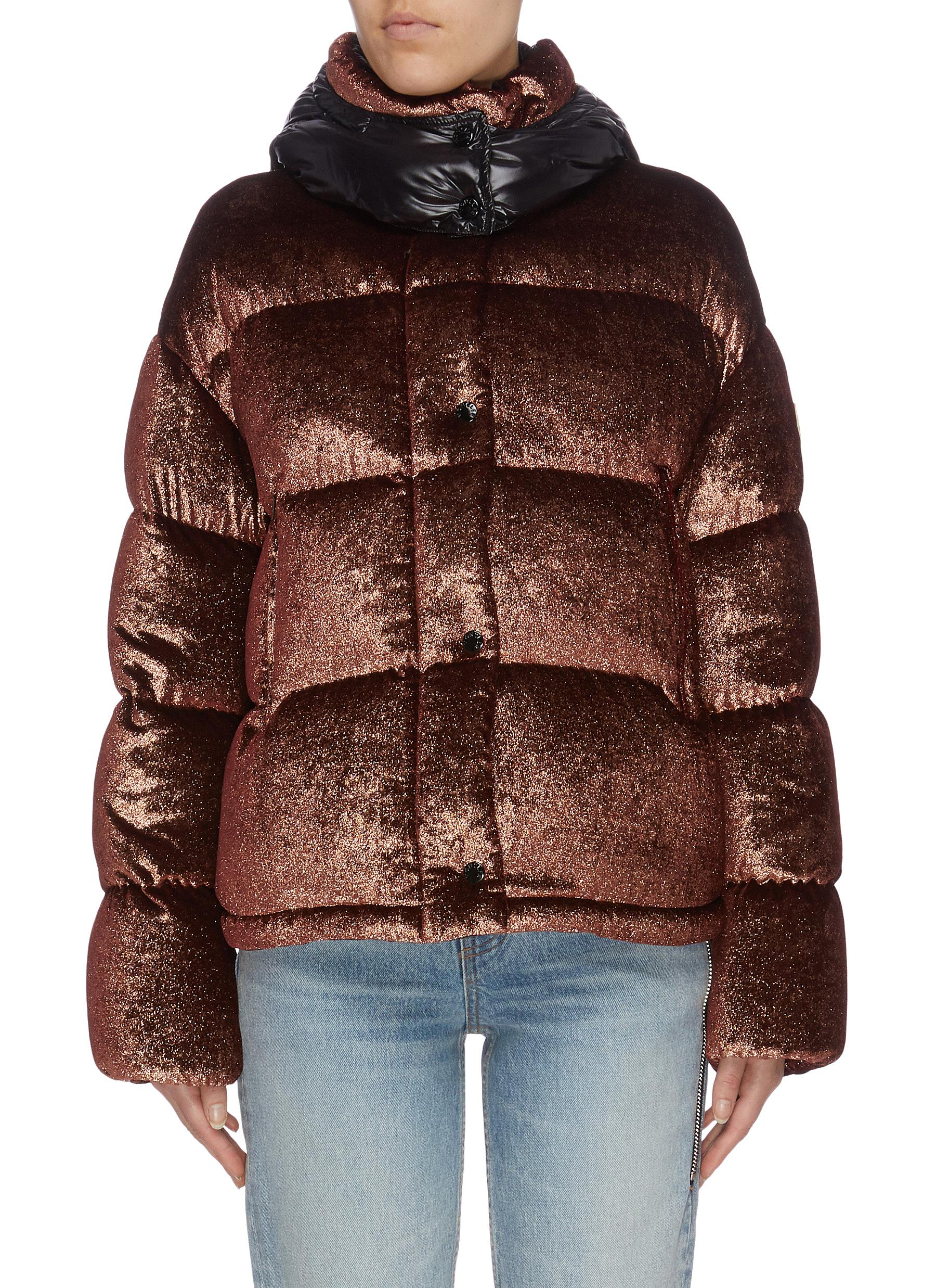 Buy Moncler Jackets 'Caille' detachable hood down puffer jacket