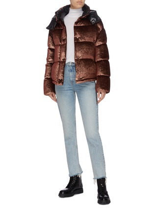 Figure View - Click To Enlarge - MONCLER - 'Caille' detachable hood down puffer jacket