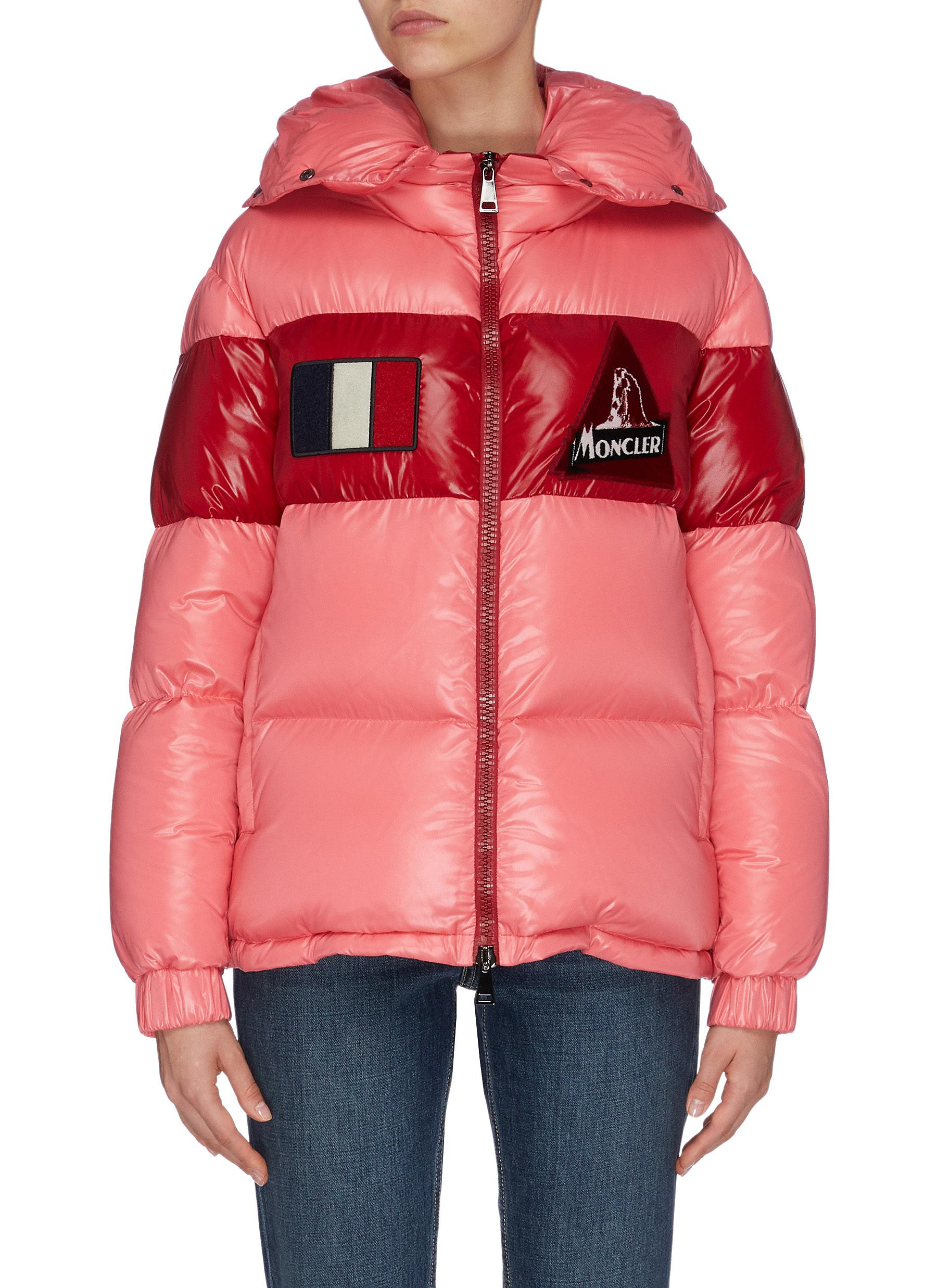 "Buy Moncler Jackets ""Gary' detachable hood colourblock down puffer jacket"