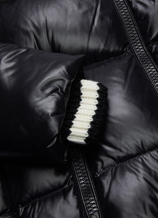 - MONCLER - 'Wouri' rib knit collar down puffer jacket