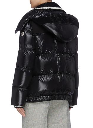 Back View - Click To Enlarge - MONCLER - 'Wouri' rib knit collar down puffer jacket