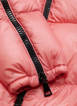 - MONCLER - Zip gusset sleeve down puffer jacket