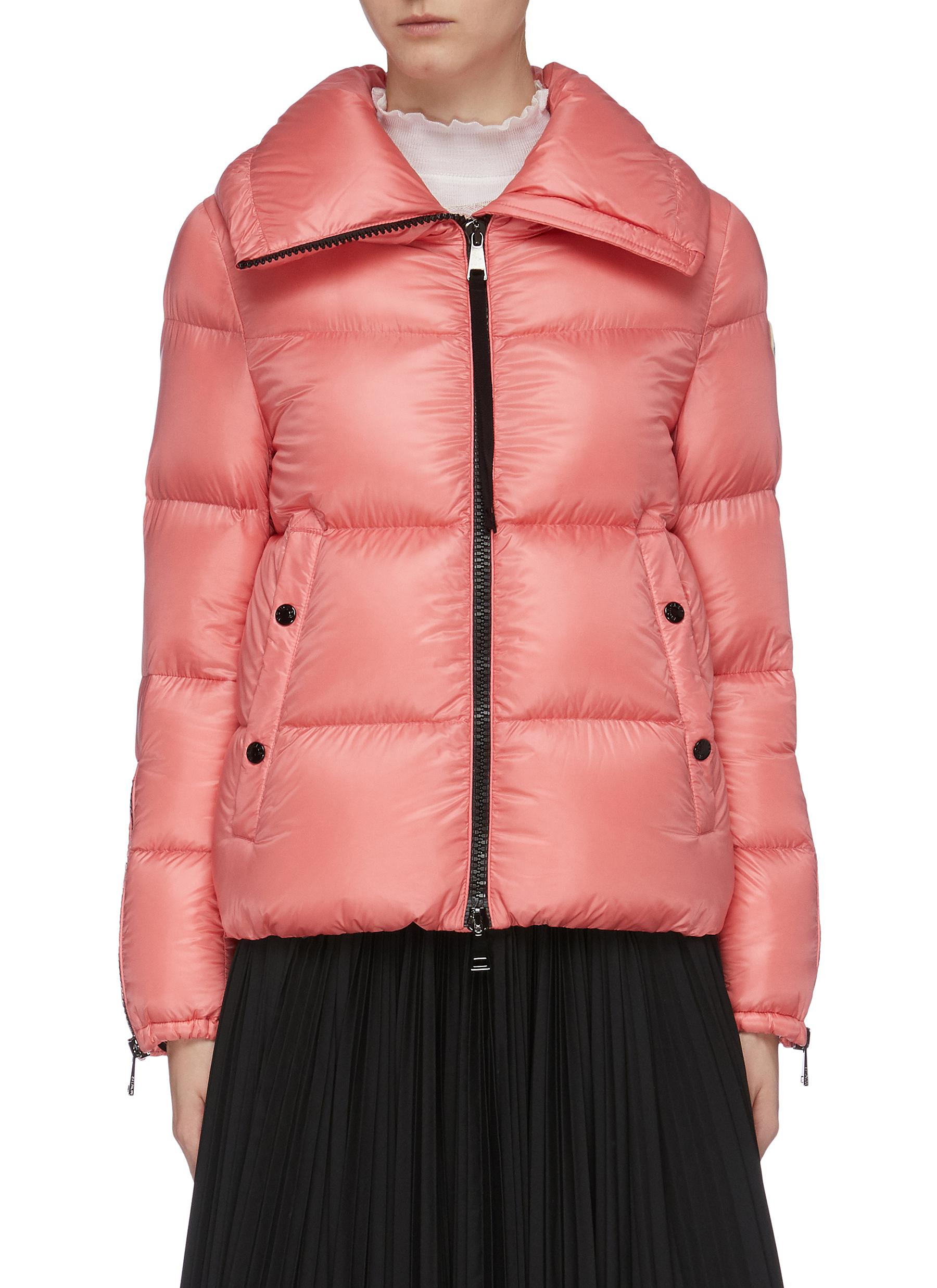 Zip gusset sleeve down puffer jacket by Moncler