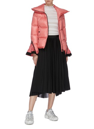 Figure View - Click To Enlarge - MONCLER - Zip gusset sleeve down puffer jacket