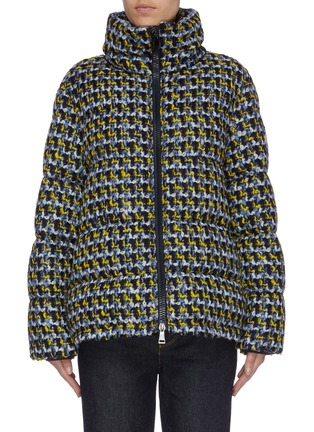 Main View - Click To Enlarge - MONCLER - 'Elby' hooded tweed down puffer jacket