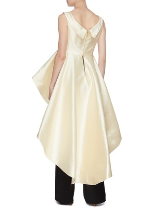 Back View - Click To Enlarge - LEAL DACCARETT - 'Dalila' sleeveless satin high-low peplum top