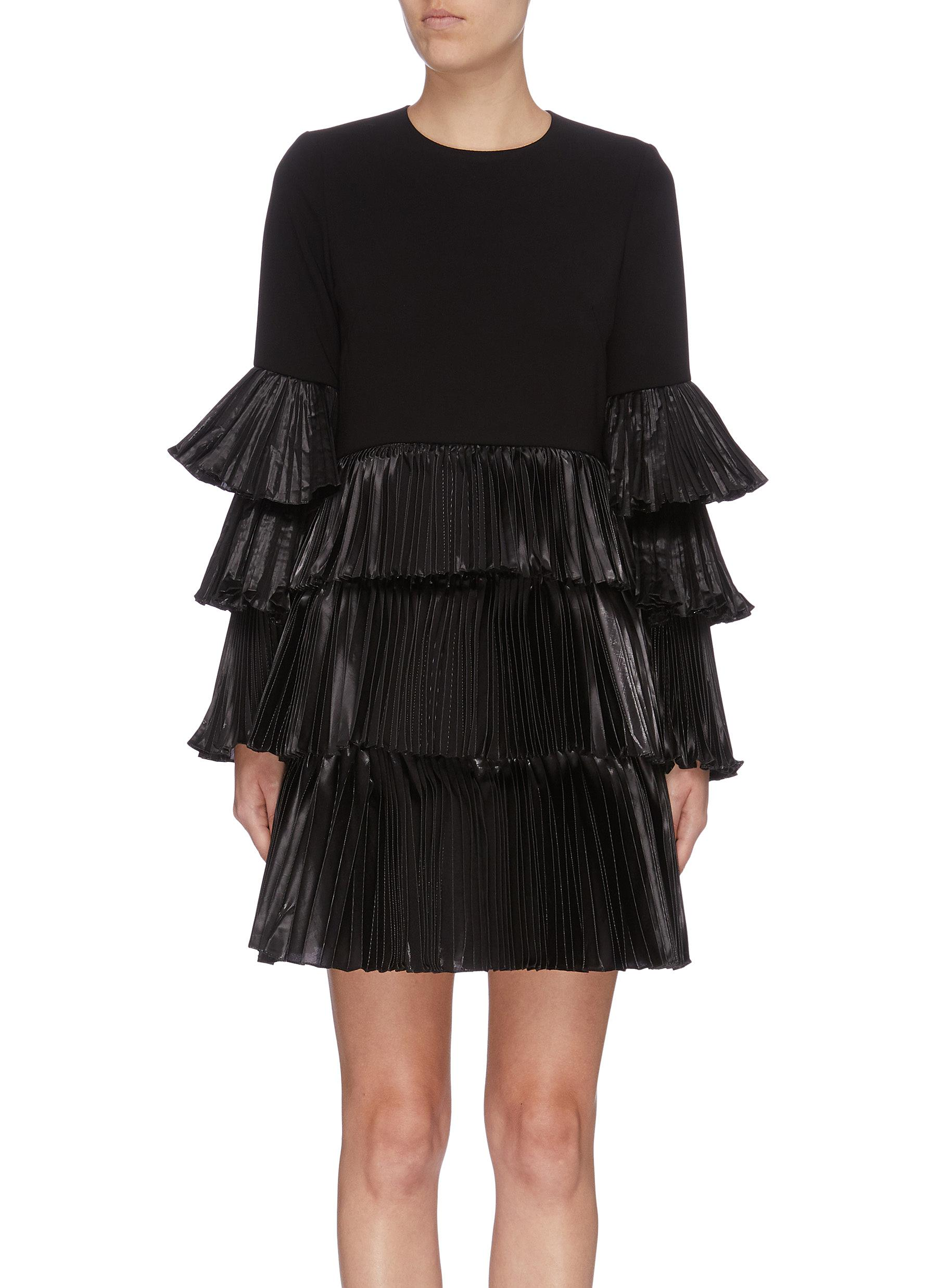 Quinta pleated tiered dress by Leal Daccarett