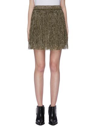 81917df41f ISABEL MARANT ÉTOILE. 'Benedicte' pleated metallic lamé mini skirt