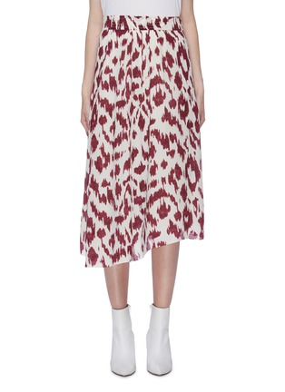 Main View - Click To Enlarge - ISABEL MARANT ÉTOILE - 'Yeba' leopard print silk crepe midi skirt
