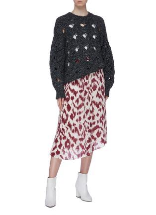 Figure View - Click To Enlarge - ISABEL MARANT ÉTOILE - 'Yeba' leopard print silk crepe midi skirt