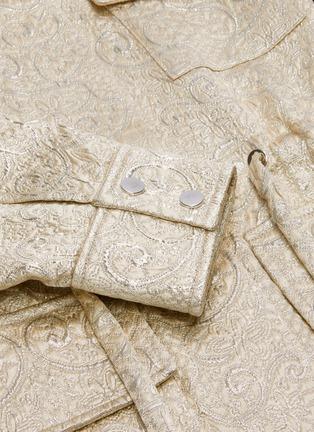 - J.CRICKET - Cloque jacquard drawstring waist parka jacket