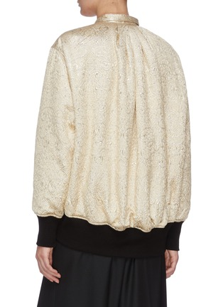 Back View - Click To Enlarge - J.CRICKET - Cloque jacquard bomber jacket
