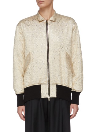 Main View - Click To Enlarge - J.CRICKET - Cloque jacquard bomber jacket