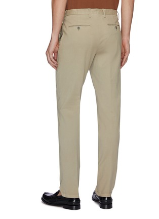 Back View - Click To Enlarge - LARDINI - Pleated twill pants