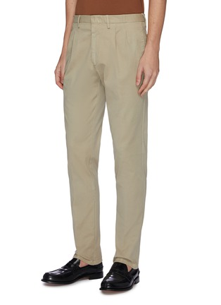 Front View - Click To Enlarge - LARDINI - Pleated twill pants