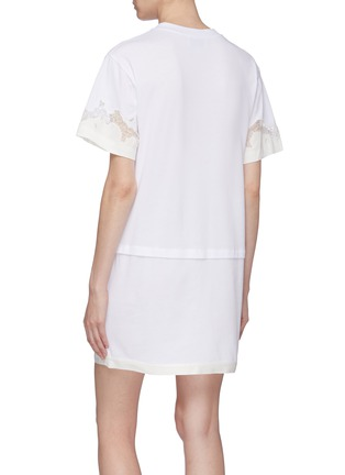 Back View - Click To Enlarge - 3.1 PHILLIP LIM - Chantilly lace insert panelled T-shirt dress