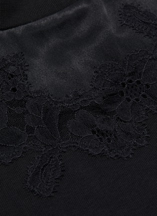 - 3.1 PHILLIP LIM - Chantilly lace insert T-shirt