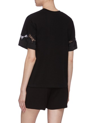 Back View - Click To Enlarge - 3.1 PHILLIP LIM - Chantilly lace insert T-shirt