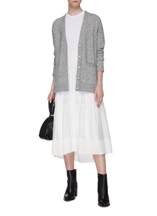 Figure View - Click To Enlarge - 3.1 PHILLIP LIM - Faux pearl button cardigan