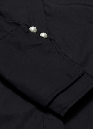 - 3.1 PHILLIP LIM - Belted back faux pearl button cuff shirt