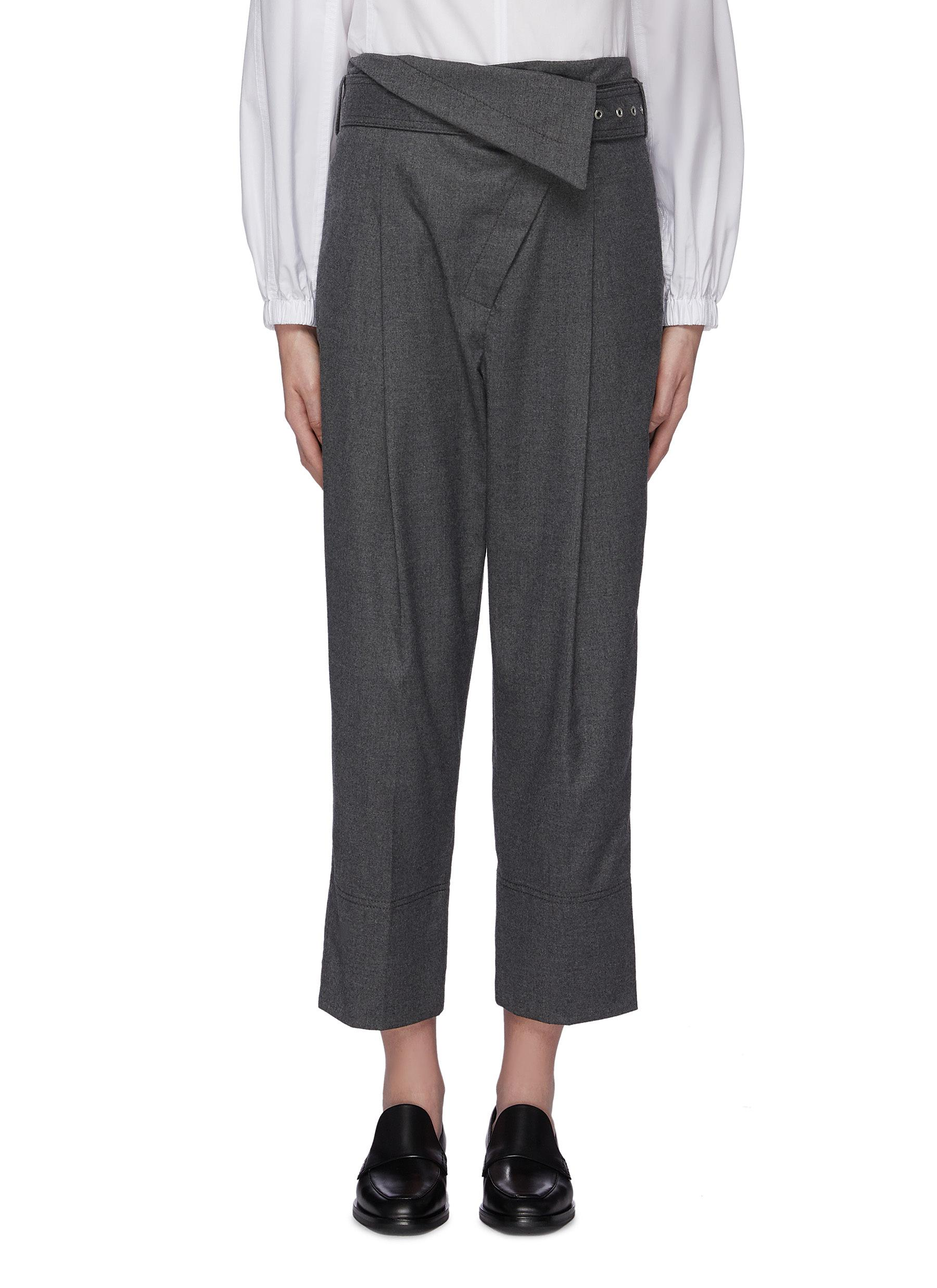 Belted foldover waist flannel pants by 3.1 Phillip Lim