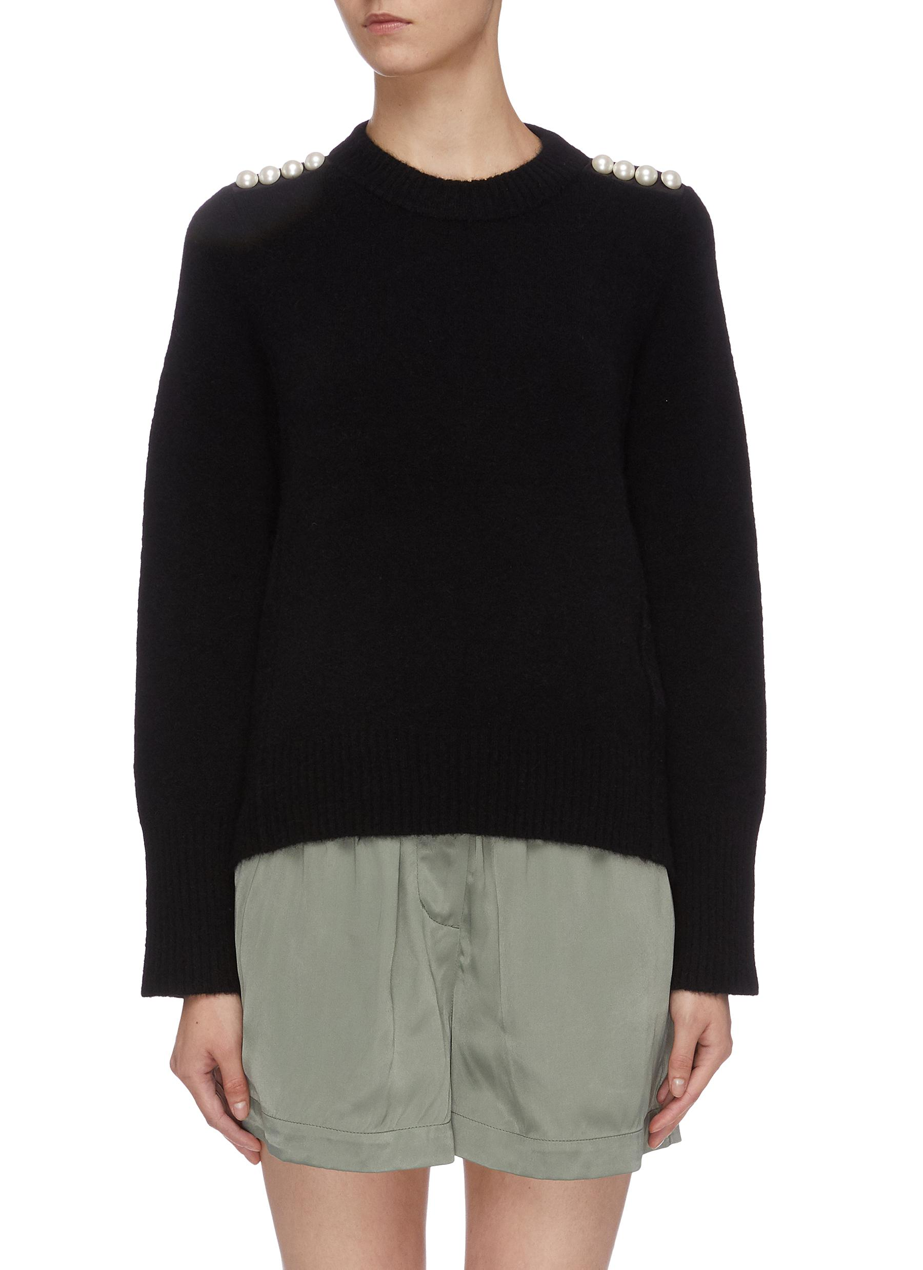Faux pearl shoulder sweater by 3.1 Phillip Lim
