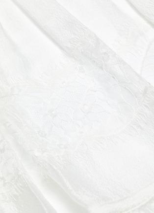- 3.1 PHILLIP LIM - Belted lace insert tiered skirt silk T-shirt dress
