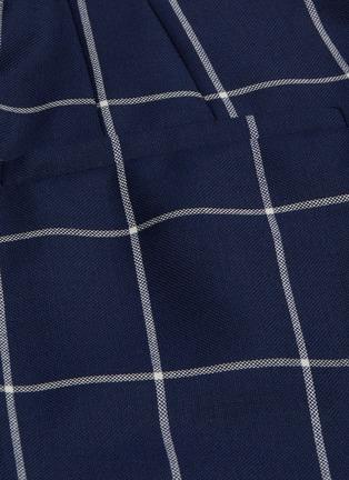 - GABRIELA HEARST - 'Vesta' waist tab windowpane check wool pants