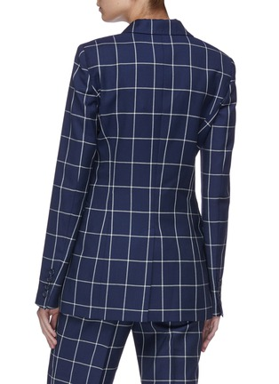 Back View - Click To Enlarge - GABRIELA HEARST - 'Miles' windowpane check double breasted wool blazer