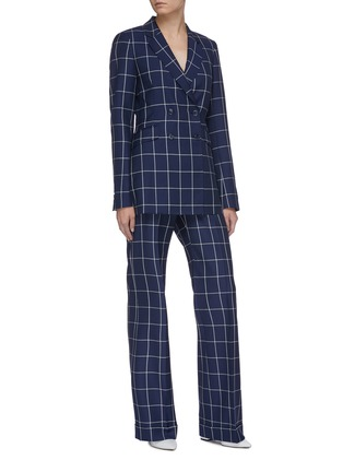 Figure View - Click To Enlarge - GABRIELA HEARST - 'Miles' windowpane check double breasted wool blazer