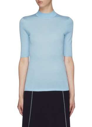 Main View - Click To Enlarge - GABRIELA HEARST - 'Hugo' mock neck cashmere-silk knit top