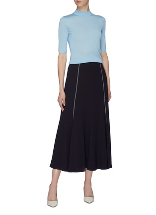Figure View - Click To Enlarge - GABRIELA HEARST - 'Hugo' mock neck cashmere-silk knit top