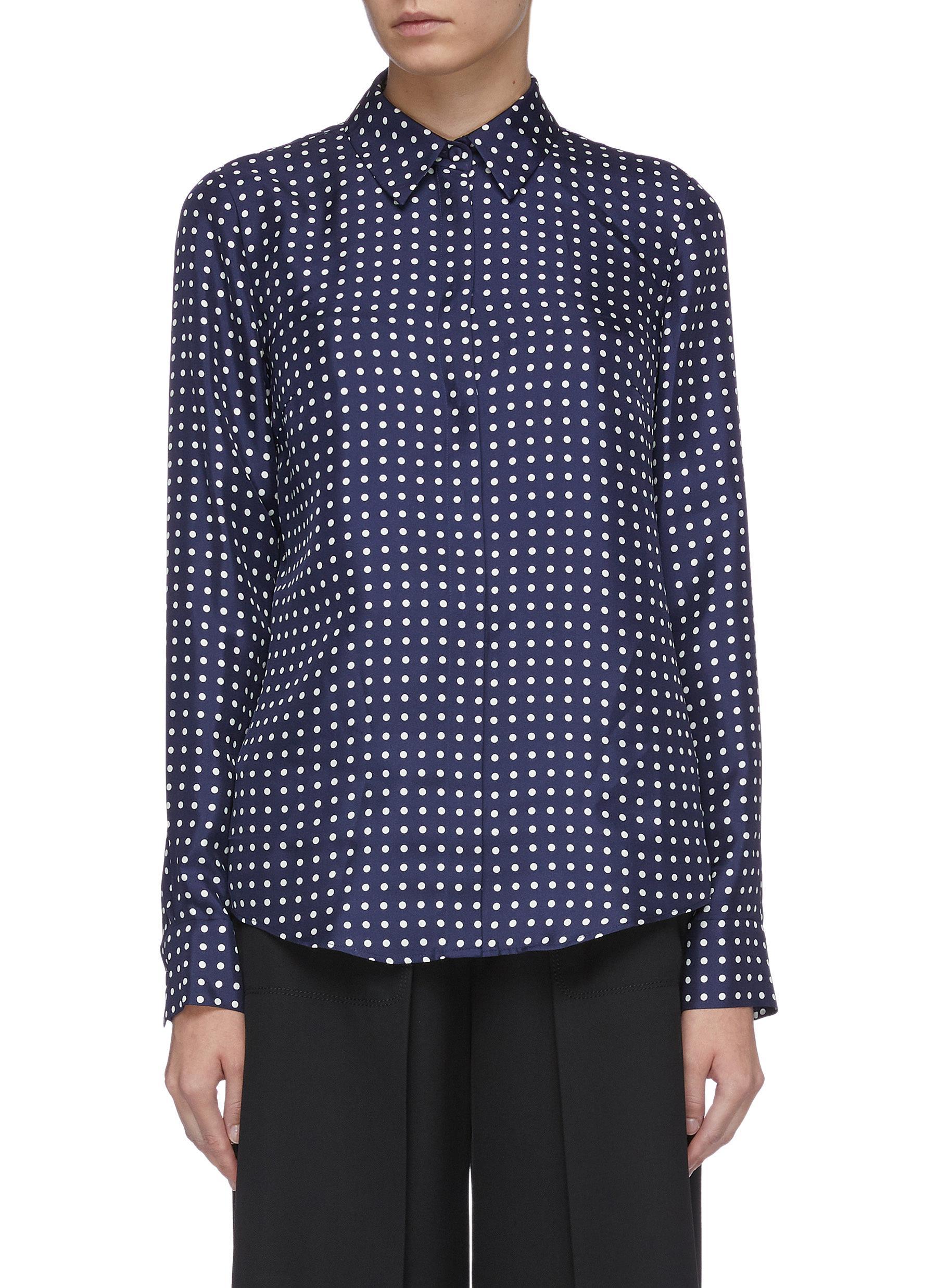 Henri polka dot print silk twill shirt by Gabriela Hearst
