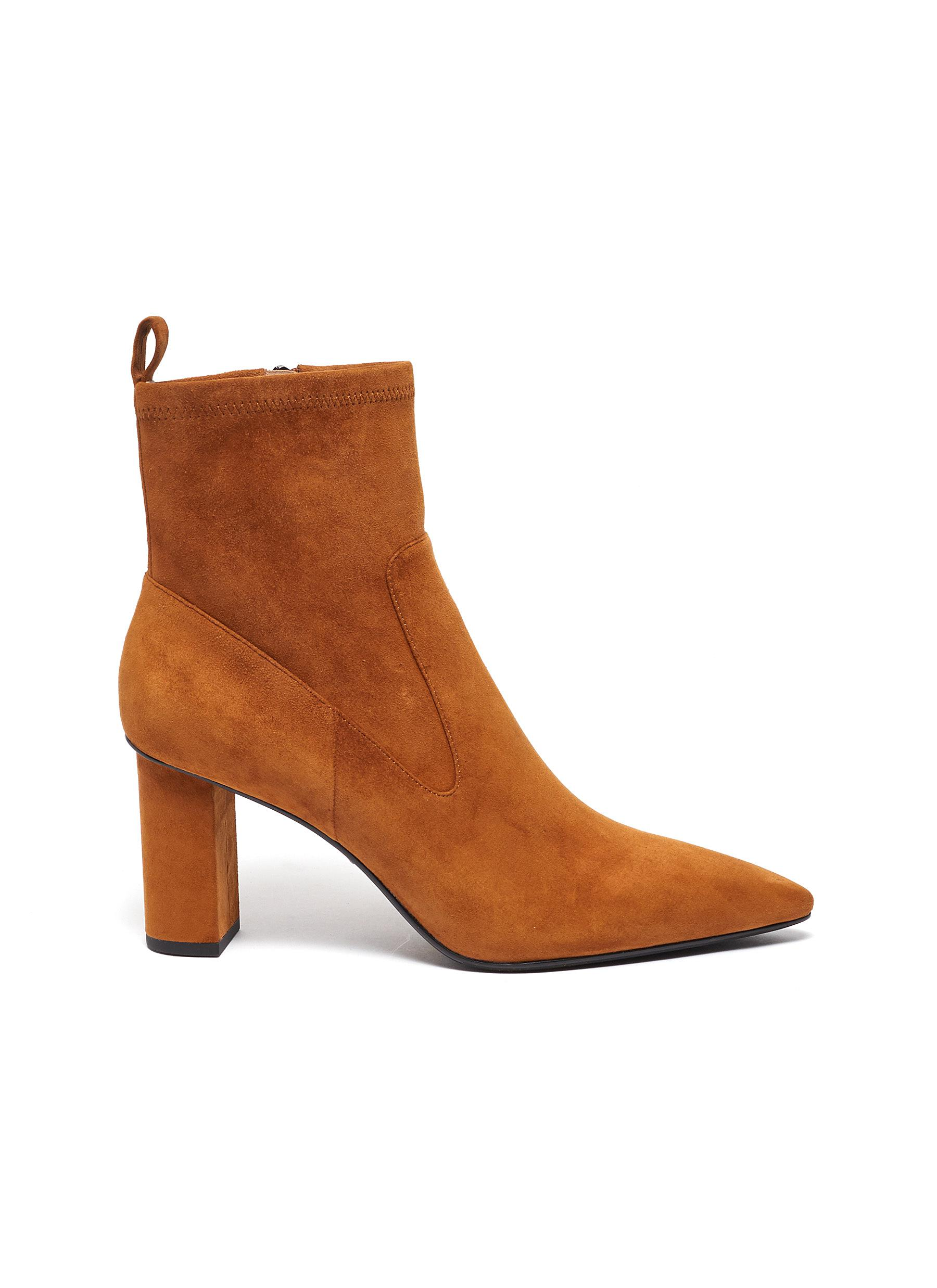 Belinda suede ankle boots by Pedder Red