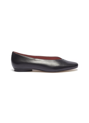 Main View - Click To Enlarge - PEDDER RED - 'Abe' choked-up leather flats