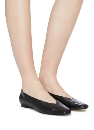 Figure View - Click To Enlarge - PEDDER RED - 'Abe' choked-up leather flats