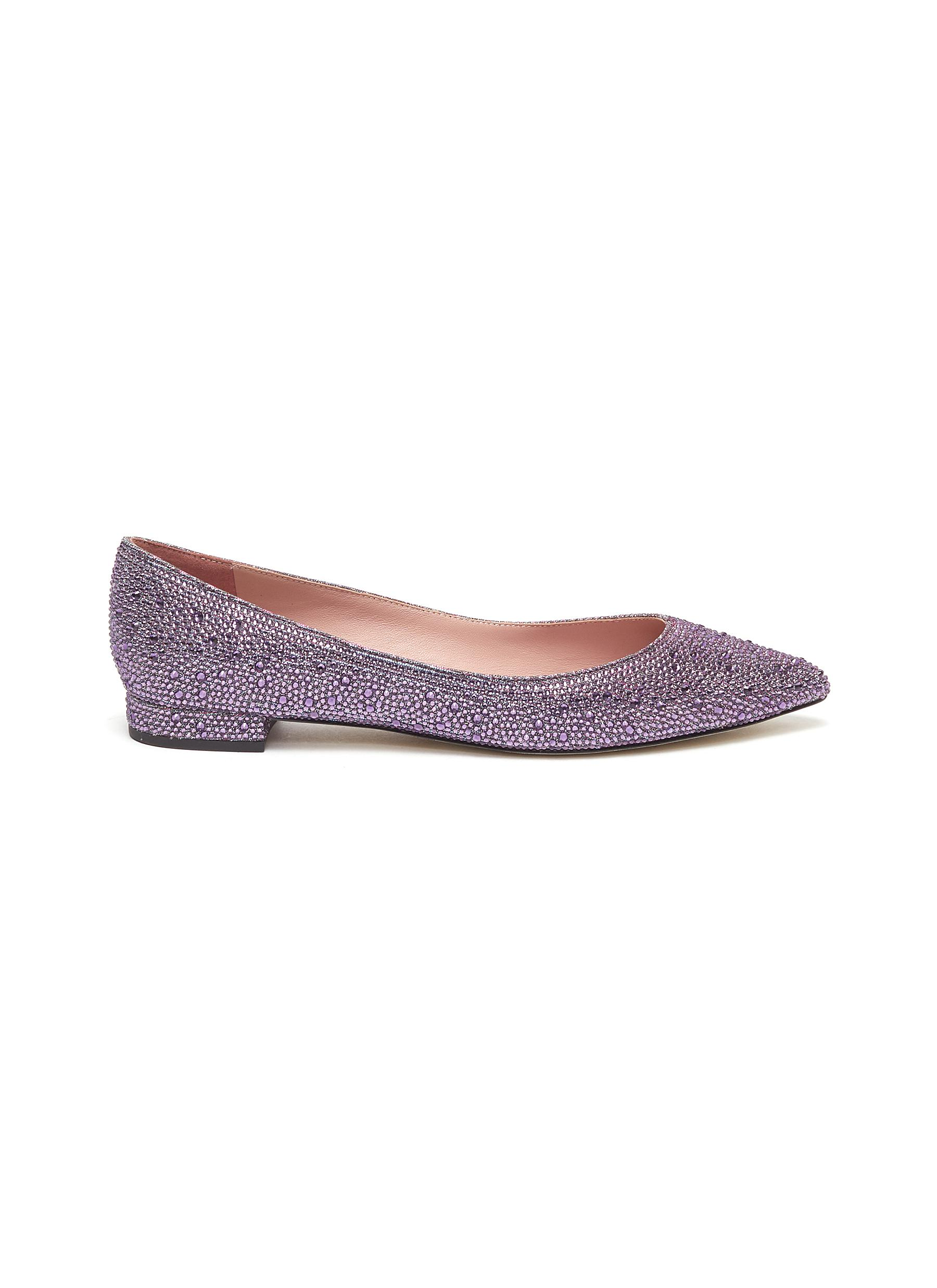 Angus strass skimmer flats by Pedder Red