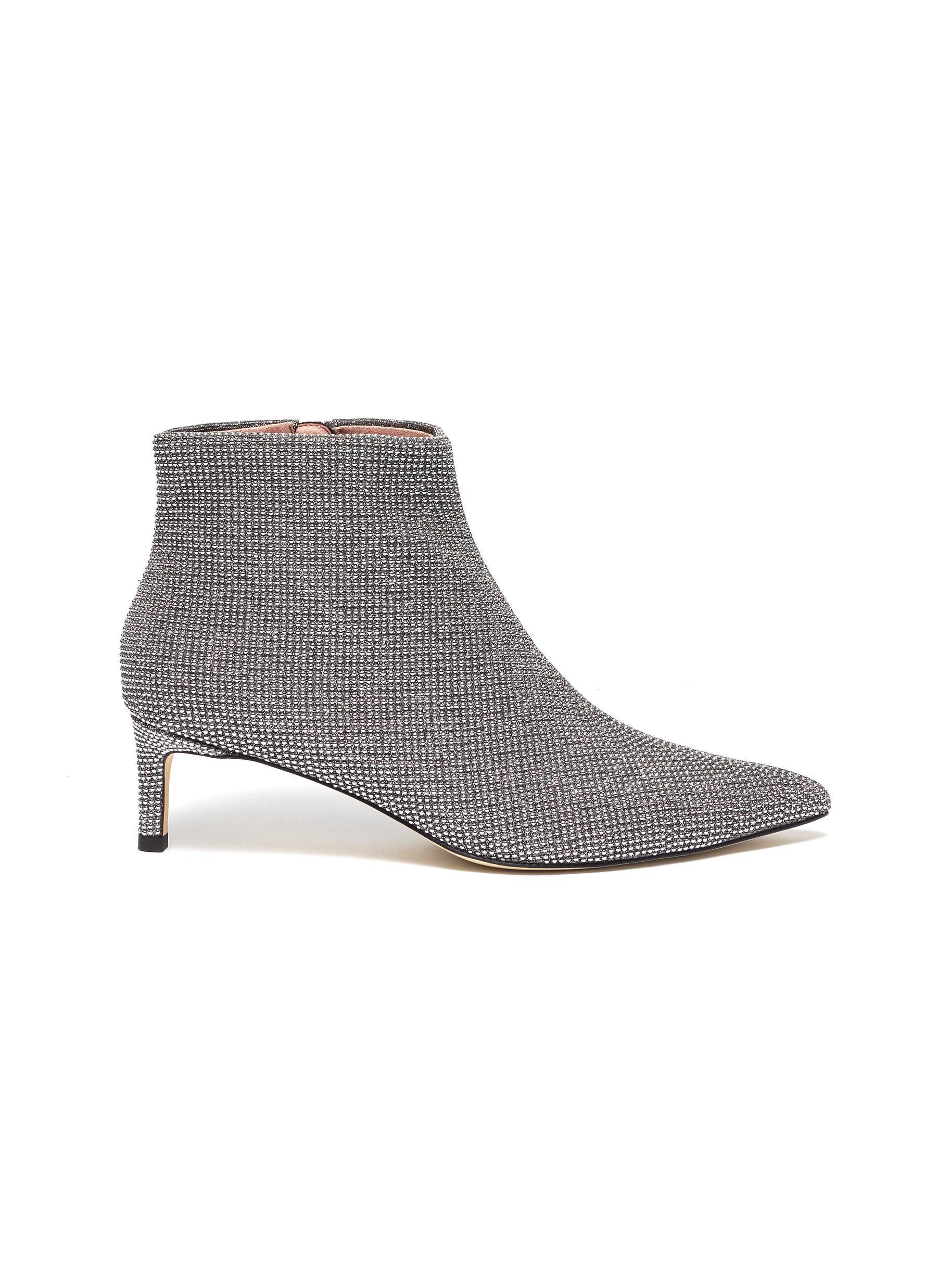 Bernarda glitter ankle boots by Pedder Red
