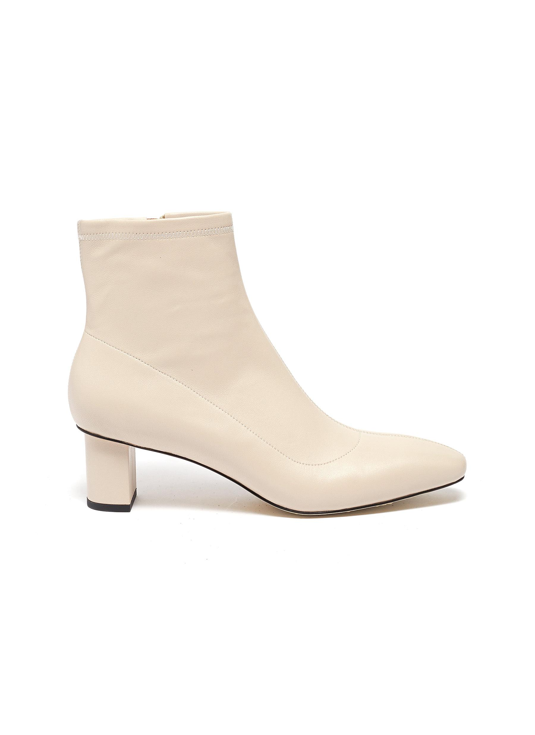 Derrick leather ankle boots by Pedder Red