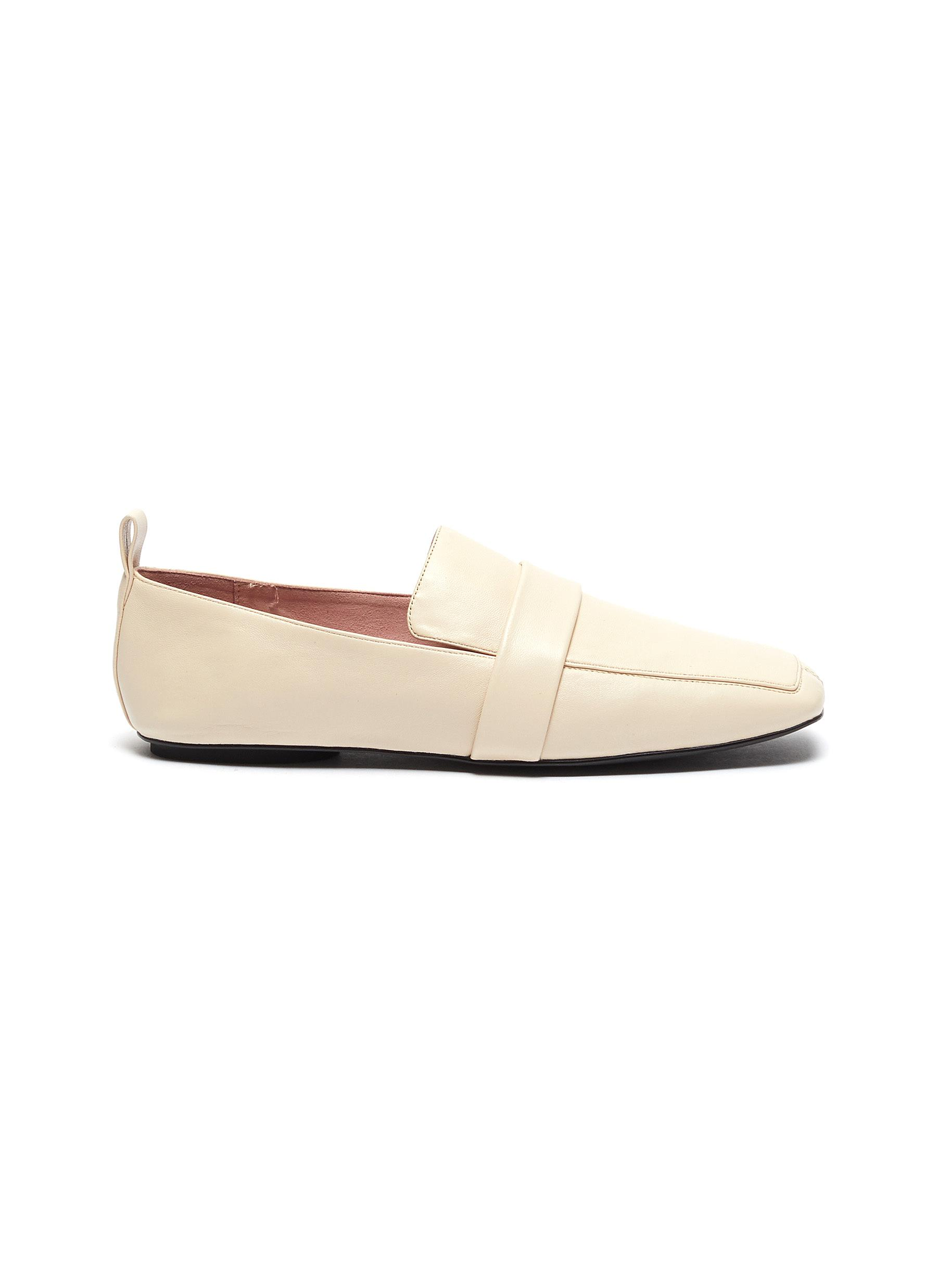 Adam leather loafers by Pedder Red