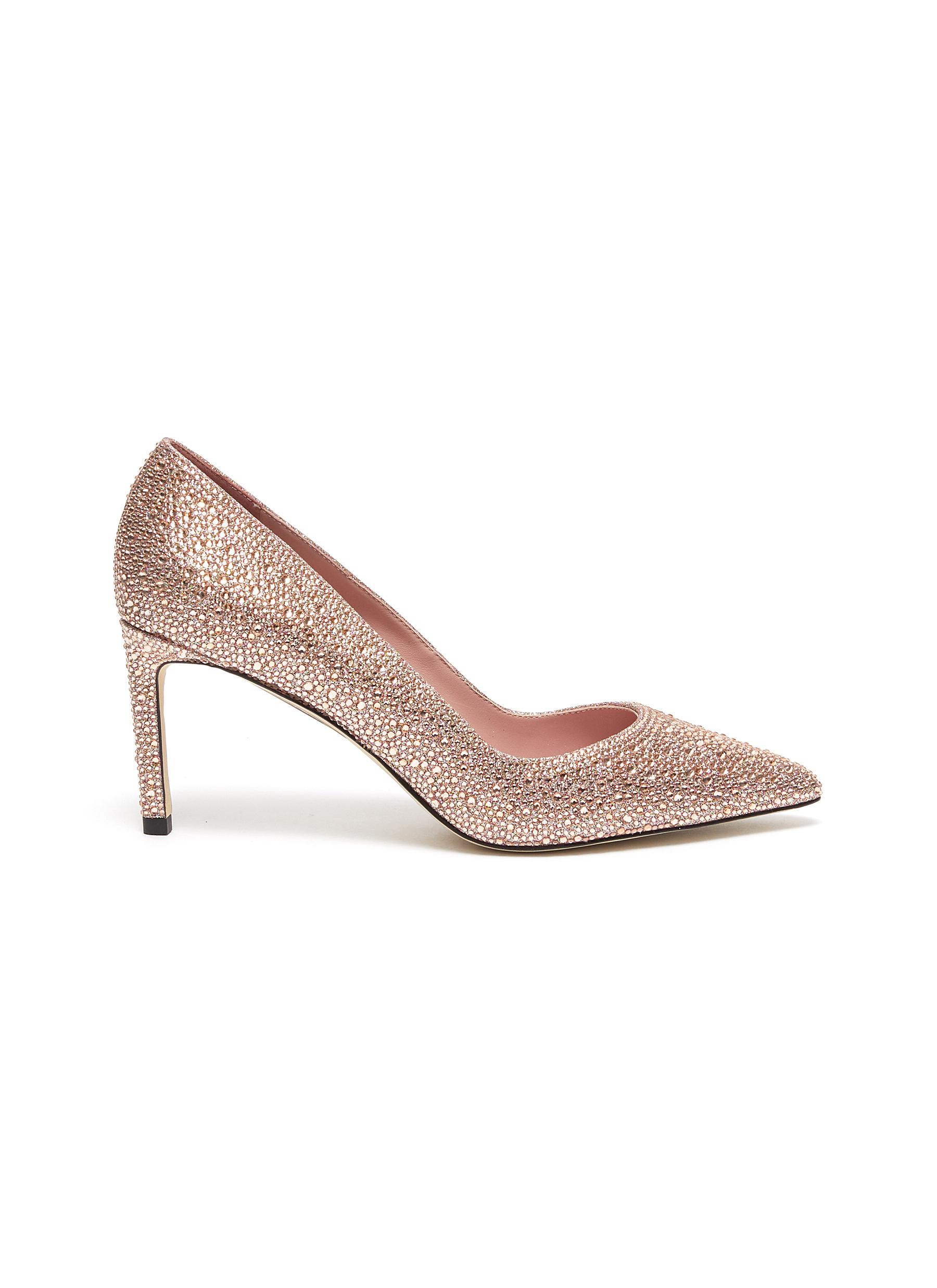 Renata strass glitter pumps by Pedder Red