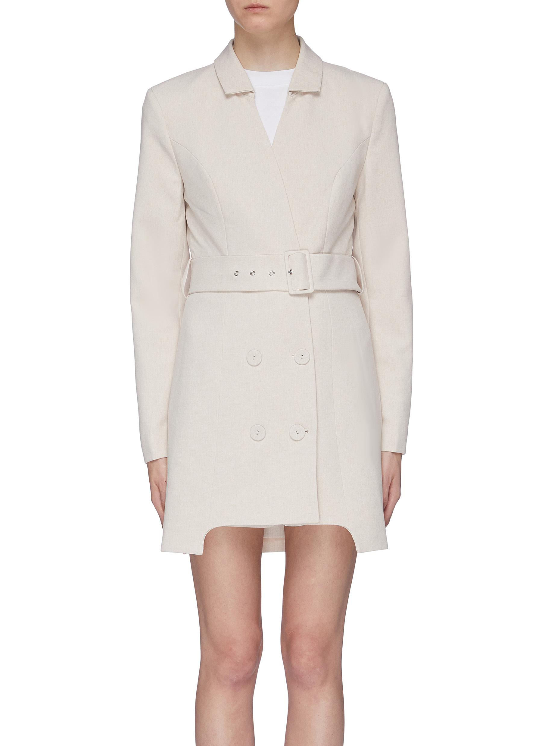 Buy C/Meo Collective Dresses 'Mode' belted staggered hem double breasted dress