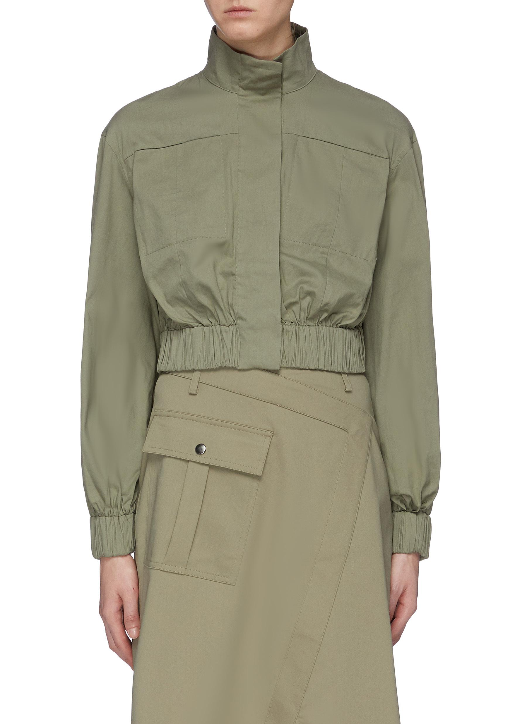Perennial puff sleeve cropped shirt by C/Meo Collective