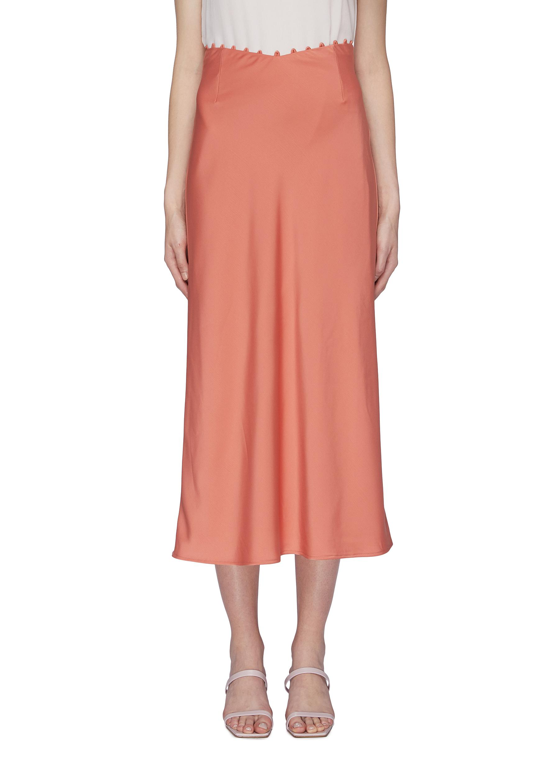 Provided rouleau loop waist skirt by C/Meo Collective
